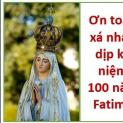 Ơn toàn xá dịp kỷ niệm 100 năm Fatima